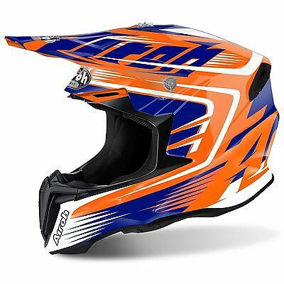 2017 Airoh Twist Helm Mx Motocross Sturzhelm Mix Orange Klein 55-56 Cm