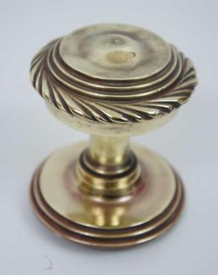 Large reclaimed solid brass Victorian door knob, entrance knob - clean