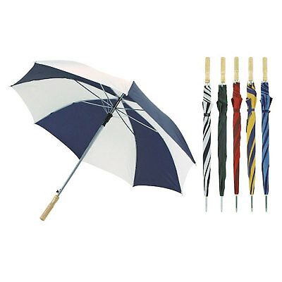 Automatic Large Golf Umbrella Brolly Fishing 70cm 8 Panel 6 Assorted Colours