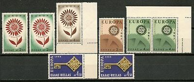 GREECE 1964,67,68 EUROPA NICE LOT OF MNH** STAMPS CAT.VALUE 38 Euros -CAG 311015