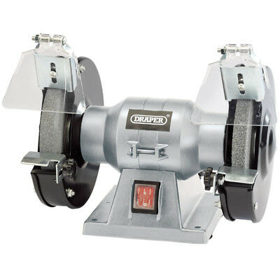"DRAPER 150mm 6"" Workshop Bench Grinder Twin Grinding Stones 150w 240v 83420 NEW"