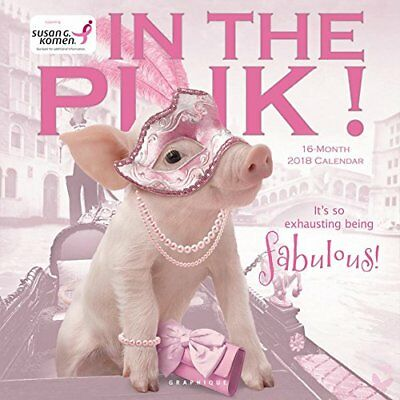 Graphique 2018 In The Pink! Wall Calendar Cute Pigs Piglet Pink