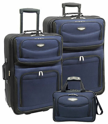 Travelers Choice Amsterdam 3 Piece Travel Collection Navy TS6903N