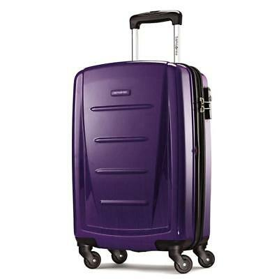 "Samsonite Luggage Winfield 2 Fashion HS 20"" carry on spinner Purple 56844-1717"