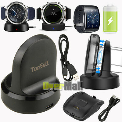 QI Charging Cradle Smart Watch Charger Dock for Samsung Gear S3 S2 S SM-R750 USA