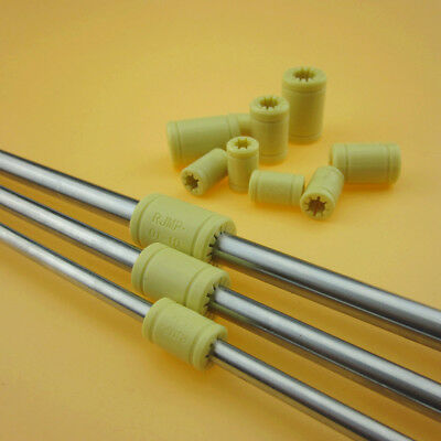 3D Printer Solid Polymer LM6UU LM8UU LM10UU Bearing - 6mm 8mm 10mm Shaft Rod