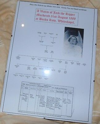 Family Tree, death certificate for Mary Ann Nichols, victim of Jack the Ripper.
