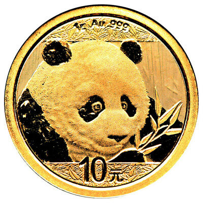 2018 China 1 g Gold Panda ¥10 Coin GEM BU Mint Sealed SKU51043