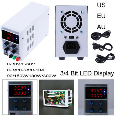 Adjustable Digital Regulated DC Power Supply 30V/60V 3A/5A/10A 90W/180W/300W Lab