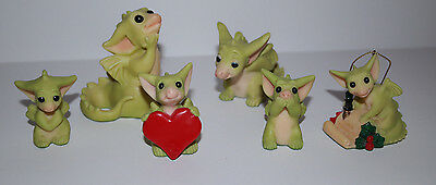 Whimsical World of Pocket Dragons -  Lot of 6 Adorable Collectible Figurines