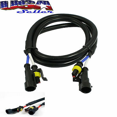 """1 pc 36"""" 3 ft HID Extension Wire For 35W & 55W Ballast and Xenon Bulbs"""