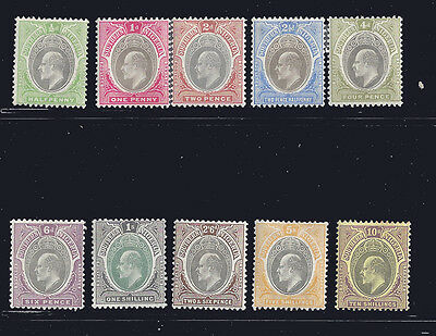 Southern Nigeria stamps EDVII 1903 1d-10s (SG10-19) MLH ₤250 / $315