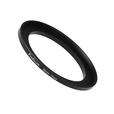 Fotodiox Metal Step Up Ring Filter Adapter Anodized Black Aluminum 58mm-72mm ...