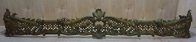 Antique Brass Decorative Arts Fireplace Fender beautiful patina ornate details
