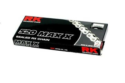 RK 520 Max-X Chain 120 Links Black/Chrome