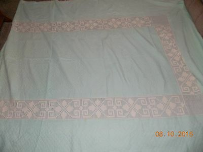 Incredible Antique HAND SEWN Quilt with Matching Dresser Runner Handmade Vintage