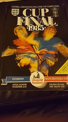 1985 FA Cup final programme, Everton v Manchester United. Good condition