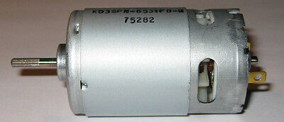 12V Electric High Speed DC Motor with Long Splined 3.17mm Dia Shaft - Fan Cooled