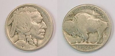1919 S  Buffalo Nickel Good G Nice Reverse Die Chip