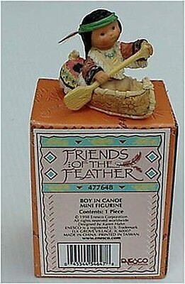 FRIENDS OF FEATHER BOY IN CANOE INDIAN NEW RETIRED in 1998 MNI FIGURE 18 YRS OLD