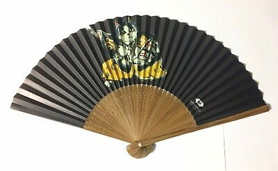Japanese Folding Fan SENSU MANHATTANER'S Cat Black JAPAN Japanese Tradition