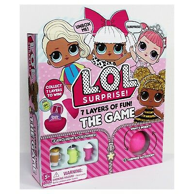 Lol Surprise doll Board Game 7 Layers Of Fun - Lol Surprise Board Game 7 * NEW *