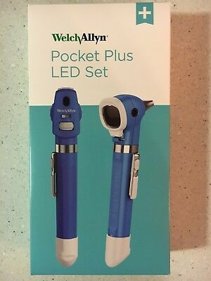Welch Allyn 92880-BLK LED Pocket Plus Diagnostic Set W/Otoscope & Ophthalmoscop