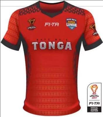 NEW 2018 RWC Tonga rugby jersey shirts rugby T shirt tee Size: S-3XL