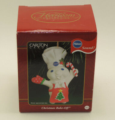 Unopened Pillsbury Doughboy Christmas Bake-Off Tree Ornament Carlton Cards 2000