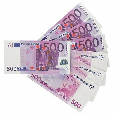 Prop money Full print Fake Euro €500, Play Money , Banknotes, Bills for movies &