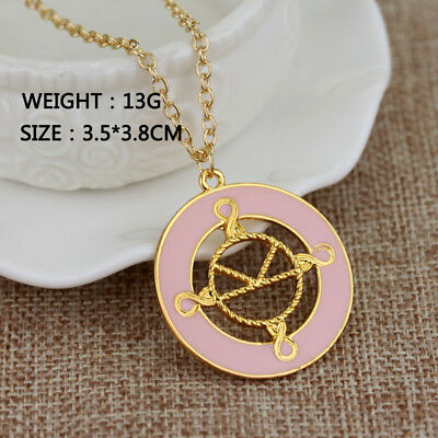 Kingsman The Secret Service Pendant Necklace with Chain Pink Logo Jewelry Gift