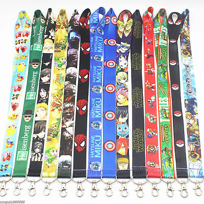 Popular Anime  Lanyard Neck Strap ID Badge Charms Key Chain  With pendant new