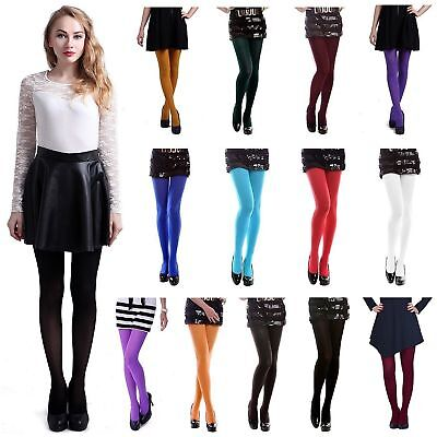 Colourful Womens 120 Denier Opaque Pantyhose Stockings Hosiery Tights 7 Colors