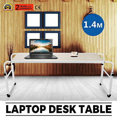 Adjustable Hospital Over Bed Table Food Laptop Tray Breakfast Rolling Sick Work