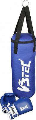 V3Tec Fighter Junior - Kinder Boxset Boxsack Boxhandschuhe - 127995-5000 blau
