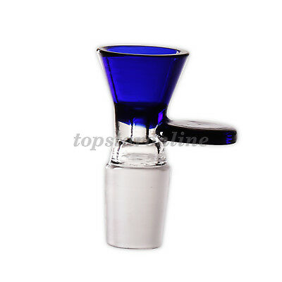 18mm Male Glass Bowl With Round Handle Free Screens USA Fast Free Shipping