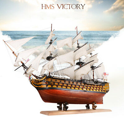 HMS Victory 21'' Wooden Sailing Boat Model DIY Kit Ship Assembly Decoration Gift
