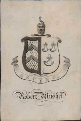 Robert Mushet  Bookplate by William Alexander.  Ri.662