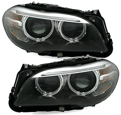 ANGEL EYES SCHEINWERFER SET für 5er BMW F10 + F11 -6/13 LCI Look Bi-XENON D1S