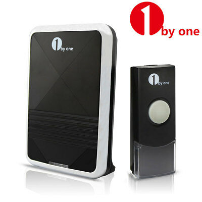1byone Wireless Doorbell Chime 36 Melody LED Indicator 328ft Waterproof Portable