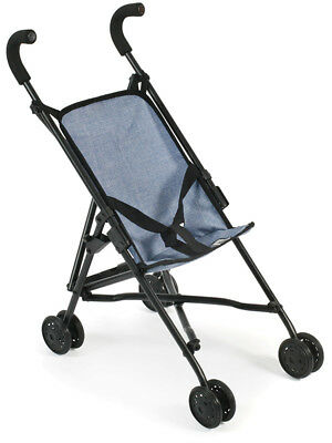 Bayer Chic 2000 Puppenbuggy Roma (Jeans Blau) Puppenwagen Buggy Stroller Jungs