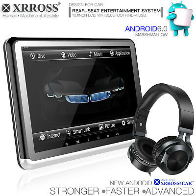 XRROSS 10.1 inch Android 6.0 Headrest Rear Seat Monitors Entertainment system