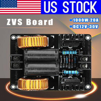US 1000W 20A Voltage Induction Heating ZVS Module Board Flyback Driver Heater