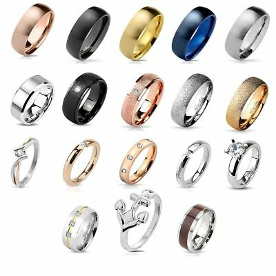 Women's Men's Ring Stainless Steel Band Partner Ve