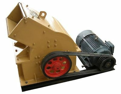 New 200 X 300 Hammer Mill Impact Crusher With 5.5KW Motor Free Shipped By Sea