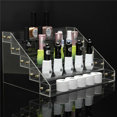 5 Tiers 40 Bottle Acrylic Nail Polish Display Stand Rack Cosmetic Varnish Holder