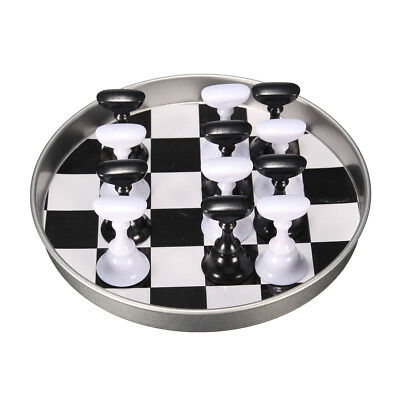 12 Pcs Chess Board Nail Art Tips Display Holder Crystal Magnetic Stand Set