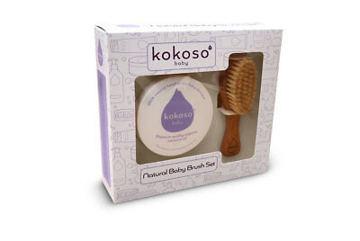 Kokoso Natural Baby Brush Set | Organic Coconut Oil & Natural Brush Set
