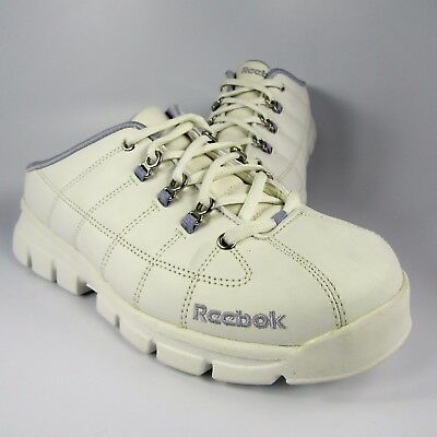 NEW Reebok Low-Back Walking Shoe Womens Size 9.5M White Leather Lace-Up Sneakers