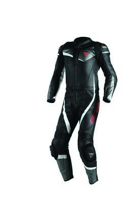 Dainese Veloster 2-pc Mens Leather Leather Suit Black/Anthracite/White 58 Euro
